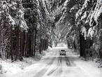 Picture of snowy road